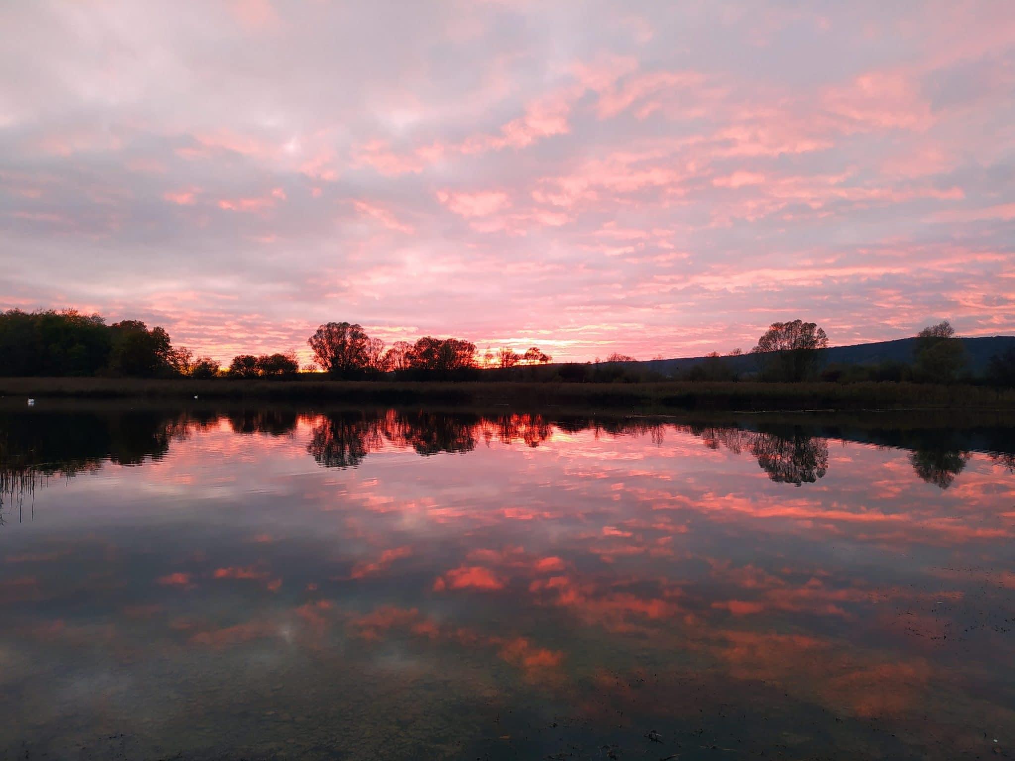 Lac de Mandine, Sunset